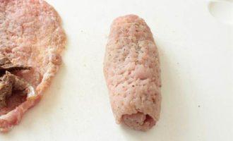 Мясные рулетики с печенью