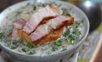 Хлебный крем-суп