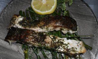 Рыба на подушке из фенхеля