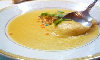 Сливочно-кремовый суп из красной чечевицы