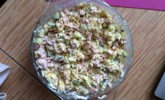 Салат с вермишелью быстрого приготовления
