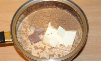 Шоколадно-малиновый торт с творожно-сливочным кремом