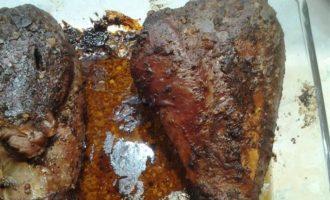 Голень индейки в ореховой панировке