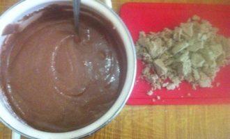 Манник шоколадный с халвой