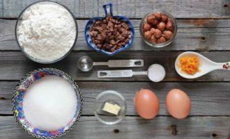 Бискотти с фундуком и шоколадом