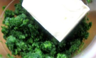 """Куриные грудки с сырно-шпинатной """"лавой"""""""