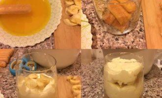Тирамису с манго и бананом