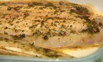Рыба-соль в пряной восточной заправке