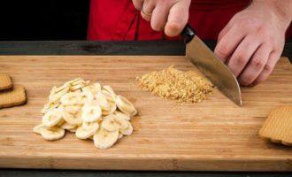Рисовая запеканка с бананами