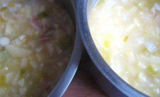 Суп картофельный с луком - пореем и беконом