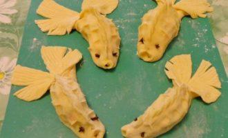 """Манты с лососем """"Золотые рыбки"""""""