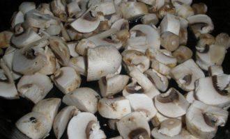 Бризольки с курицей и грибами