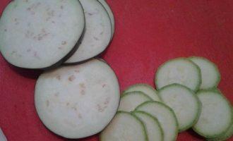 Овощная мусака с сыром сулугуни