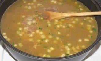 Мош угра, машевый суп с лапшой