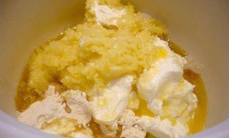 Пирог с брокколи и луком-пореем из картофельно-творожного теста