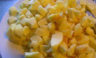 Болонский пирог с яблоками и полентой