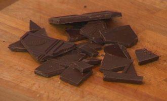 Песочное кольцо с шоколадом