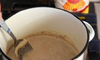 Кофейно-шоколадный десерт на манке