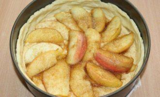 Пирог с нутом и яблоками