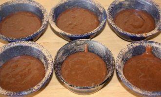 Фондан по-испански из горького шоколада