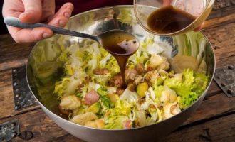 Теплый салат с авокадо