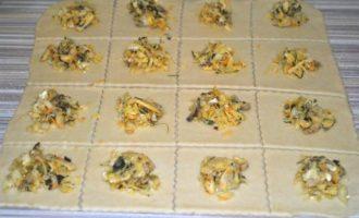 Кундюмы с капустой и грибами
