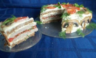 """Закусочный торт """"Для мужчин и не только"""""""
