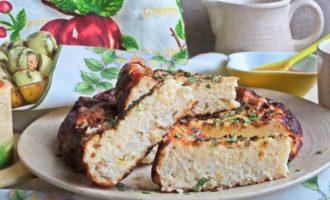 Творожно-рисовый пирог-запеканка