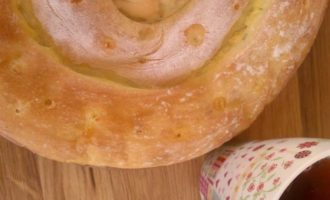 Сырный пирог-спираль, по мотивам греческой кухни