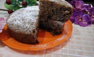 """Морковный пирог """"Мираж"""" с грецкими орехами и изюмом"""