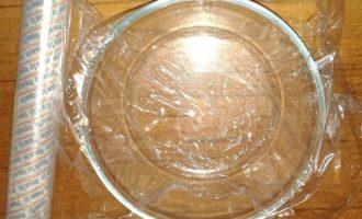 Фруктово-сметанное желе с печеньем