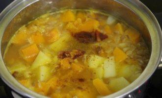 Тыквенный суп с фетой