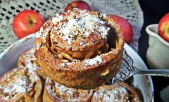 Булочки яблочные из полезной муки