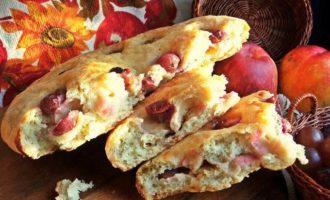 Осенняя фокачча с виноградом и сыром