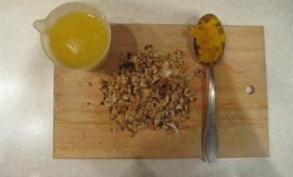 Апельсиновый кекс с клюквой и орехами