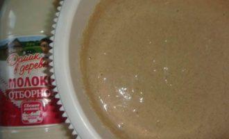 Блины гречневые с творожным соусом