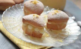Кексы-валентинки с лимонным курдом