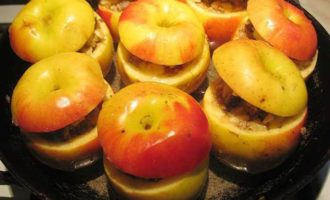 Яблочки, фаршированные мясом