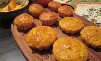 Тыквенные маффины в апельсиново-морковном сиропе