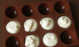 Семифредо из маскарпоне на шоколадно-кофейном ганаше