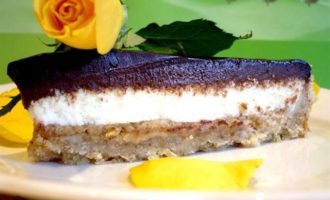 """Шоколадно-арахисовый тарт """"Поле чудес"""""""