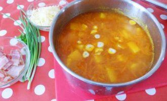 Суп-пюре из нута с карри