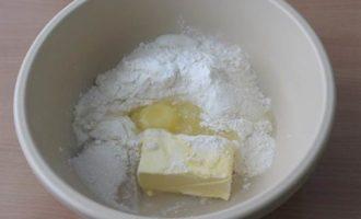 Пирог с нектаринами, рикоттой и ванильным пудингом