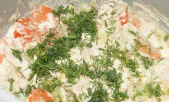 Бланкет из курицы с овощами в мультиварке