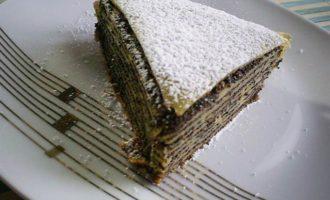 Блинный торт-пирог с маковой начинкой