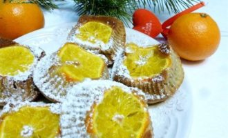 Бананово-мандариновые кексы