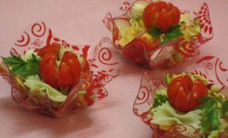 Салат с летними овощами