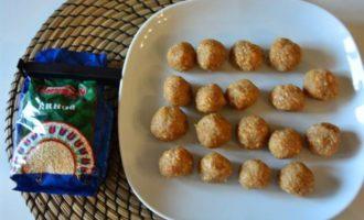 Конфеты из киноа с арахисовой пастой