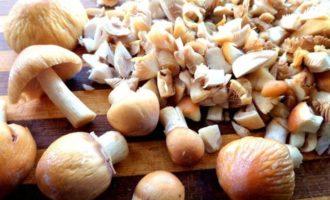 Пирог с грибами, из лаваша