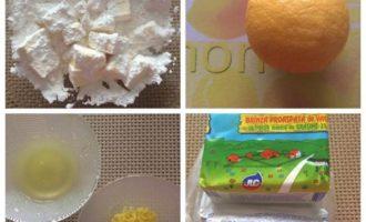 Лимонный творожник, порционная подача